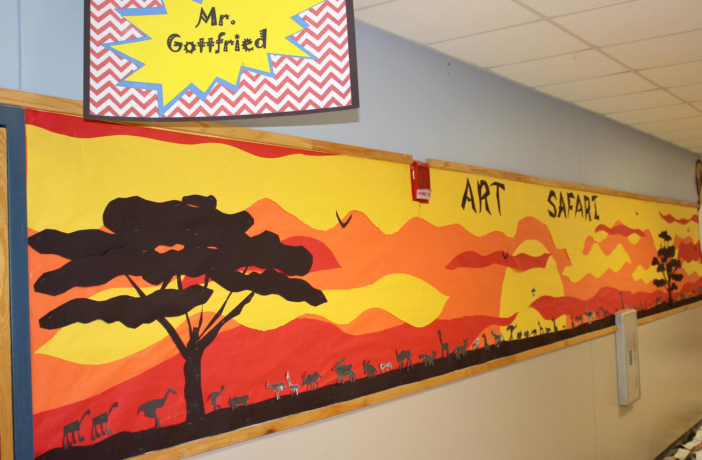 Art safari wall