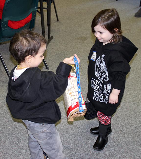 Dillinger shows Gracelyn bird item