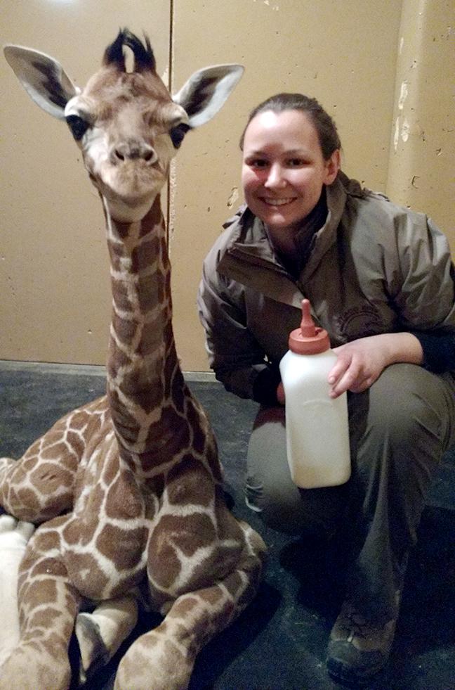 Jolene and giraffe
